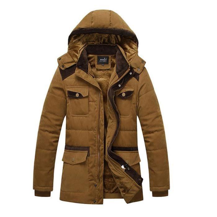 512a2046bffc Doudoune Homme de à capuche amovible hiver homme Veste chaude Marque ...