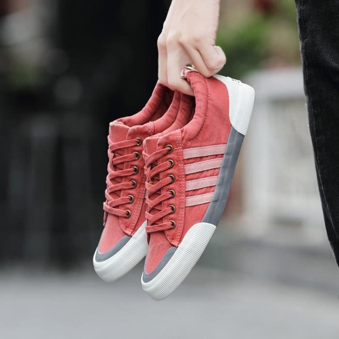chaussures de sport en tissu pour femme homme Simple 6iR7Ei6