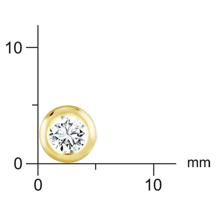 Bella Donna - Ohrstecker 635579 - Boucles Doreille Mixte - Or Jaune 585-1000 (14 Cts) 0.5 Gr - Diamant 0.10 Cts MDLKI