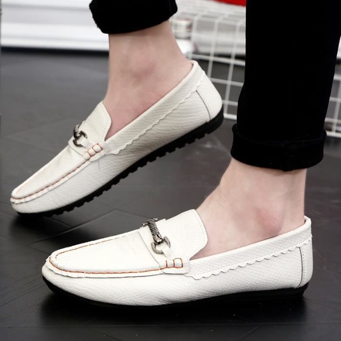 Souliers véritable en Oxford Chaussures homme Flats simple Flats Chaussures cuir Hommes Hommes Chaussures Mode Mocassins Driving YxwIP8xq