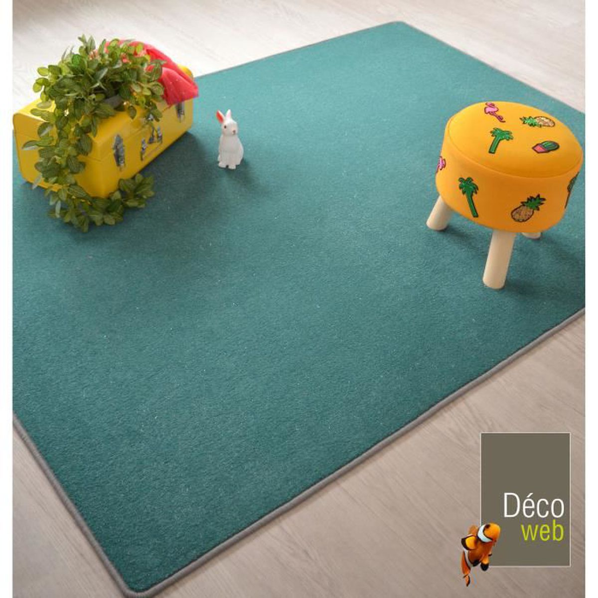 Tapis chambre turquoise - Achat / Vente pas cher
