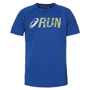 MAILLOT DE RUNNING ASICS Graphic Tee shirt manches courtes Homme - Bl
