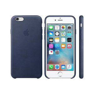 COQUE - BUMPER Coque en cuir pour iPhone 6s - Bleu nuit