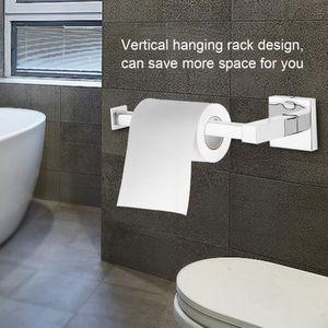 Carré Salle De Bain Barre Porte-rouleaux de papier toilette Haute Brillance Poli Finition Chrome Moderne