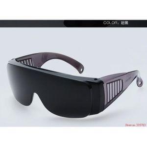 d39ddc4a7950db LUNETTE - VISIÈRE CHANTIER Version black - 2 Pcs Saftey De Soudage Lunettes  S