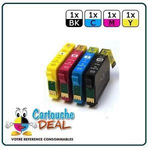 CARTOUCHE IMPRIMANTE Lot de 4 Cartouches générique compatible EPSON  T1