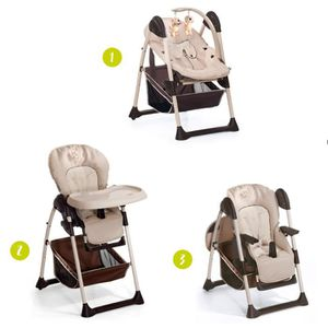 Chicco Chaise Haute Polly Magic Relax 4 Roues Beige Beige Achat