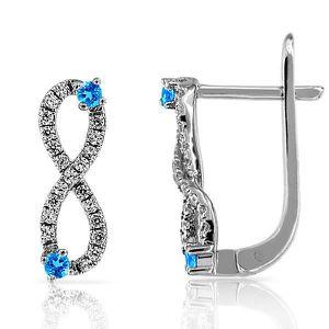 Boucle d'oreille Boucles d Oreilles Infinity Symbole Infini Argent