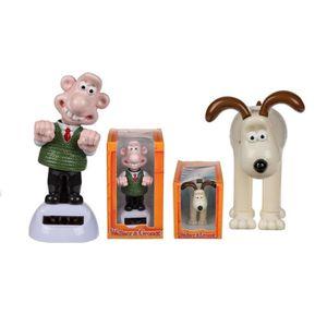 AFFICHE - POSTER Lot de 2 Figurine Mobile Solaire Wallace et Gromit