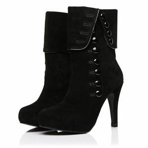 BOTTINE Bottines Femmes Talons hauts Mode Chaussures BLKG-
