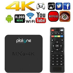 RÉCEPTEUR - DÉCODEUR   MXQ-4K Box Androïd 4K Smart TV