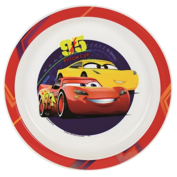 Cars Assiette micro-ondable
