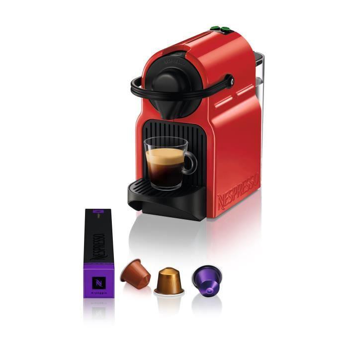 KRUPS YY1531FD Machine expresso à capsules Nespresso Inissia - Pression 19 bars - Rouge rubis