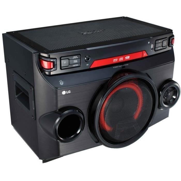 LG OK45 - Système Audio 220W - Lecteur CD - Bluetooth - Fonctions DJ & Karaoké - Port USB