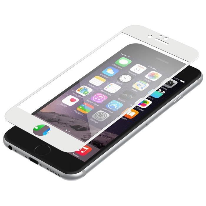 ZAGG Protection d'écran invisibleSHIELD Glass Contour - Blanc - Pour Apple iPhone 6, 6s