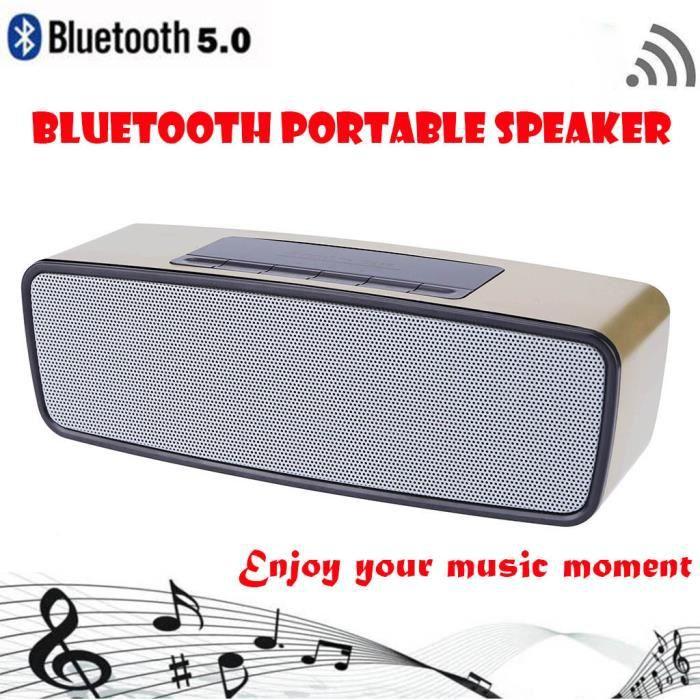 Musique Stéréo Sans Fil Bluetooth Mini Haut-parleur Portable Hi-fi Nouveau_mo4050