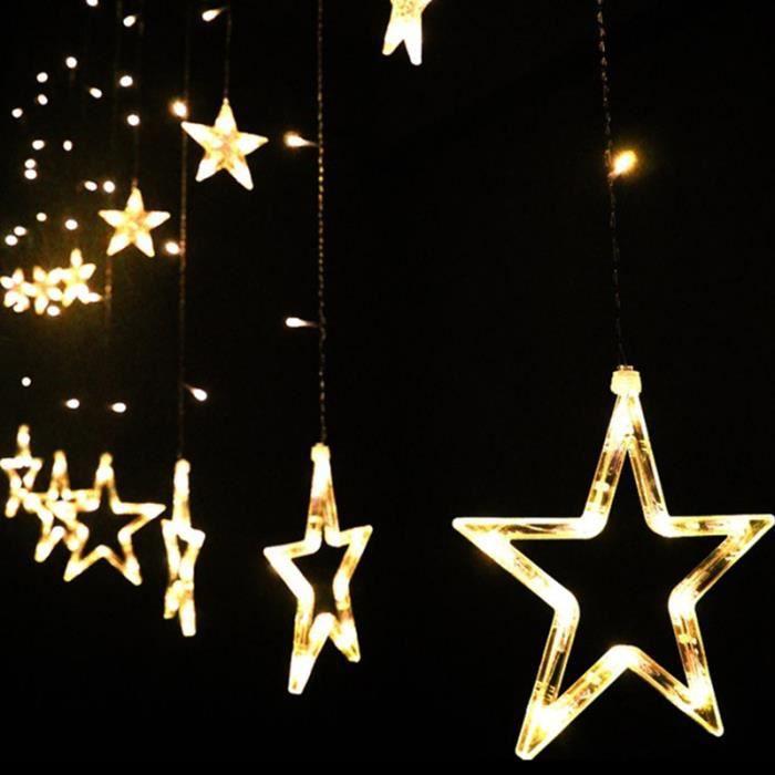 Yida-world® 138 LED Lampe Nuit Guirlande étoile Lumière Fée Décor ...