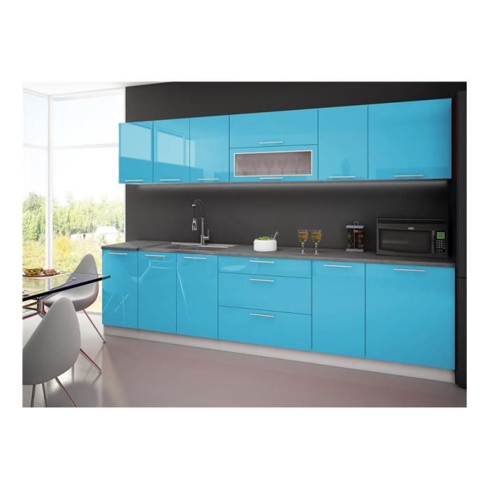 Frais Peinture Cracdence Bleu Turquoise Dans Cuisine Blanche Avec ...