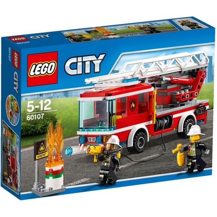 Lego city 60107 le camion de pompiers avec chelle - Lego city camion police ...