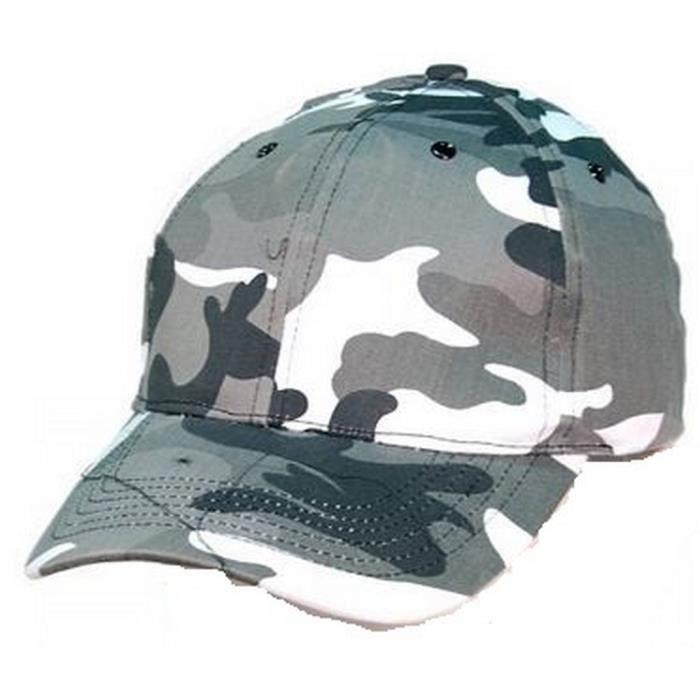 Casquette Militaire Homme Camouflage Gris Argent Gris - Achat ... e68275f54ac
