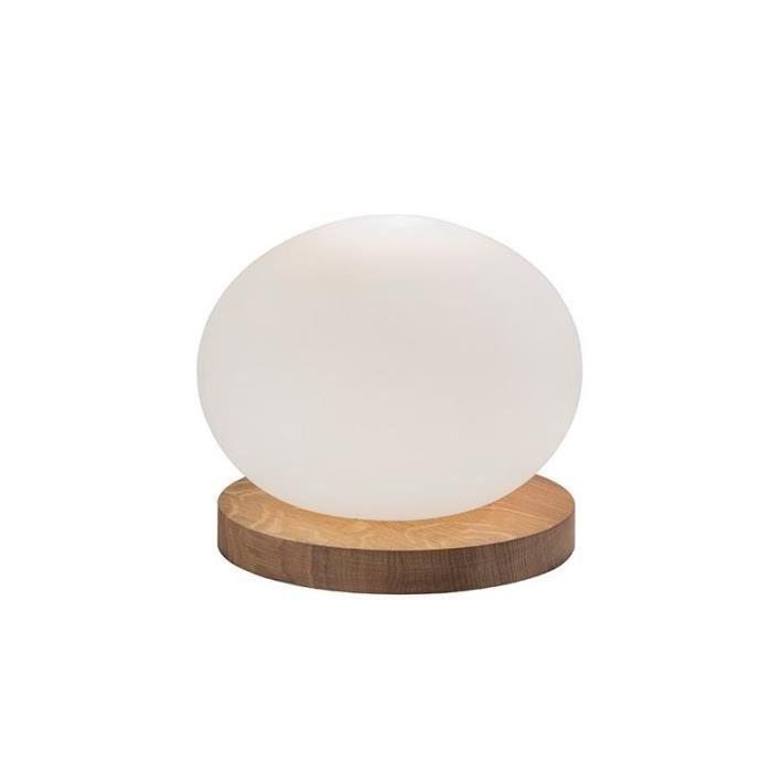 LAMPE A POSER Lampe design bois boule Léda