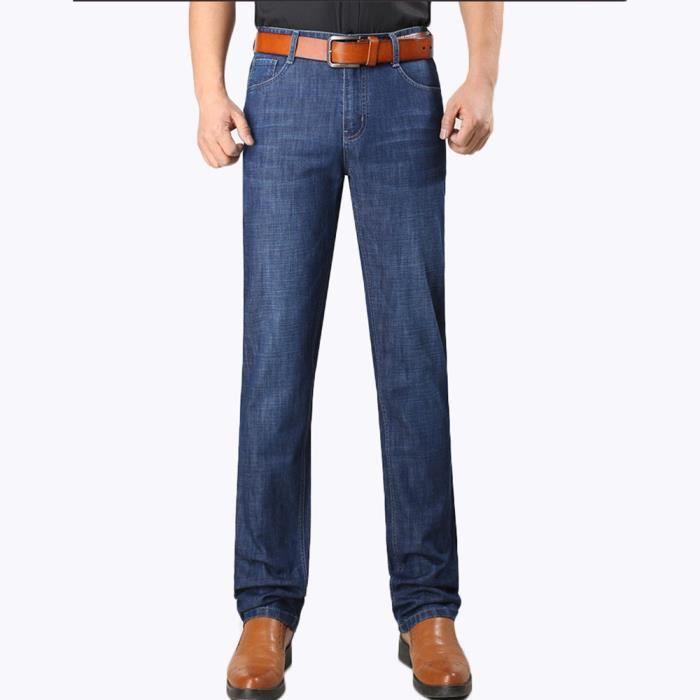 jeans amples coupe Large Homme jean de Ville Homme Jean de Casual Homme  Jean vêtements d été Homme 08c7835edd2