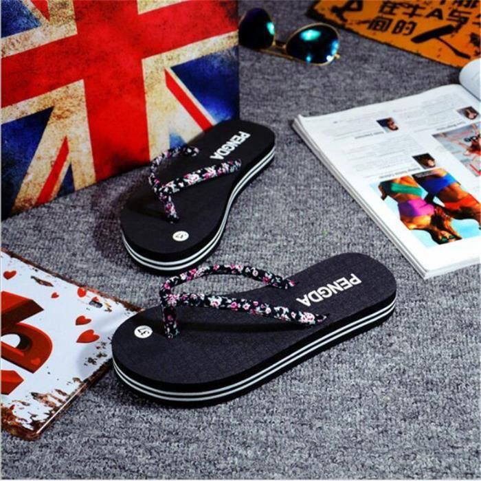 Chaussures Femmes De Marque RéSistantes à L'Usure Sandale Luxe Chaussure éTé Femme Pointure Pantoufles Femmes Plus De zthLUOZeD