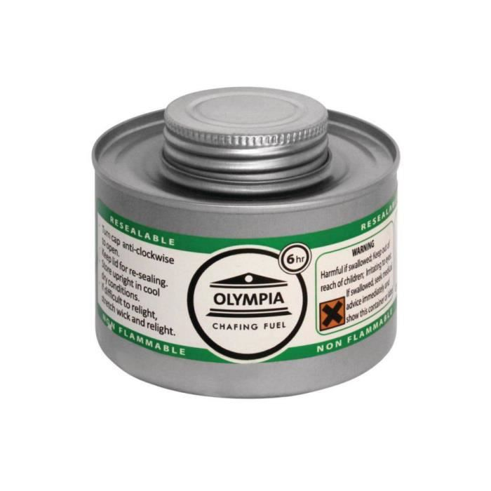 ETHANOL Combustible liquide OLYMPIA pour chafing dish 6h -