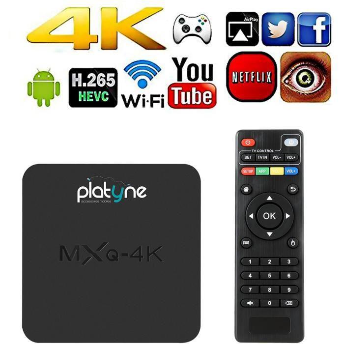 MXQ-4K Box Androïd 4K Smart TV - Système d'exploitation Android 6 0