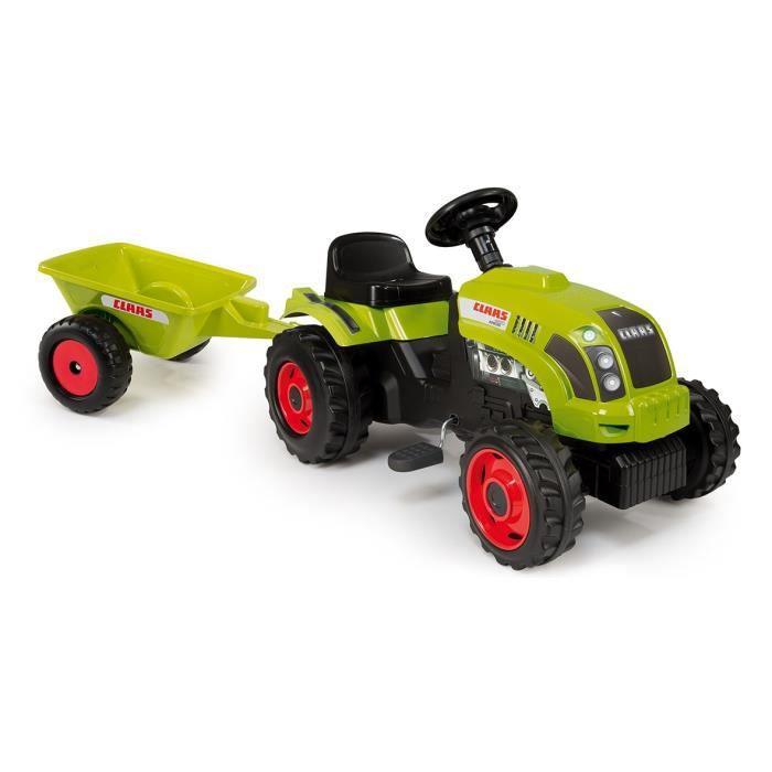 Smoby claas tracteur gm remorque achat vente tracteur chantier cdiscount - Tracteur remorque enfant ...