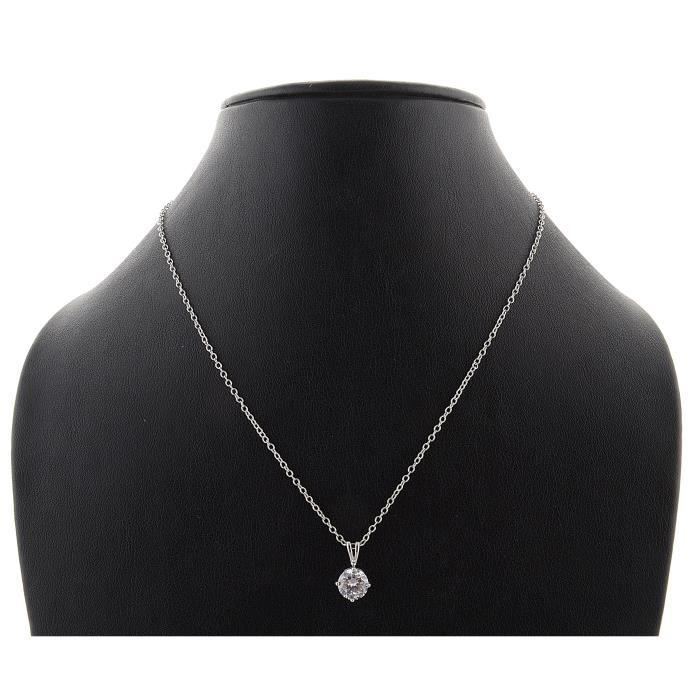 Boucle doreille de femmes Set rhodié avec cristaux Swarovski et bijoux pourI7AYS
