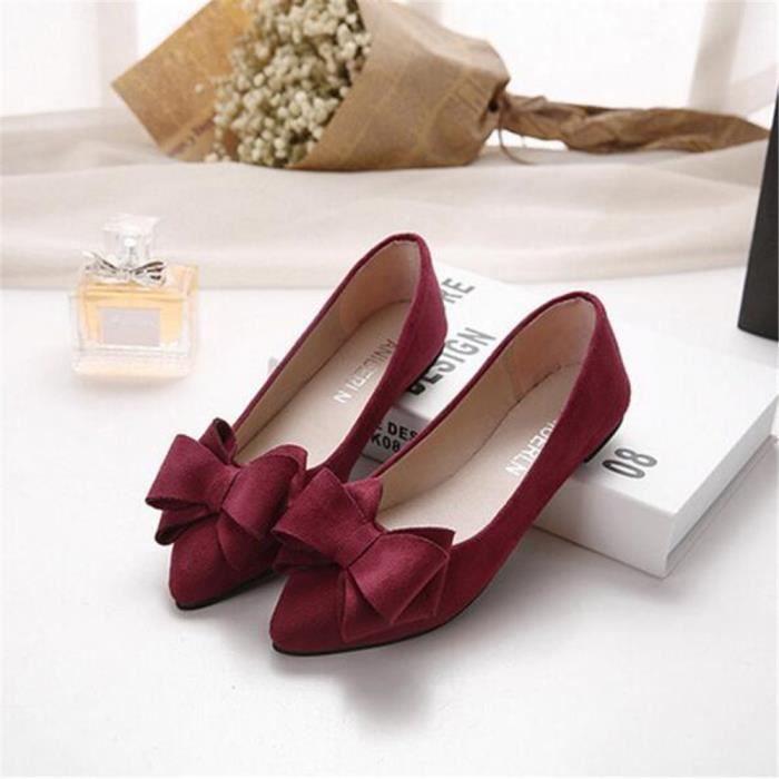 Femme Moccasins Marque De Luxe Chaussures pour femmesChaussures plates Haut qualitéNouvelle mode Confortab dss063rouge41 OddODX