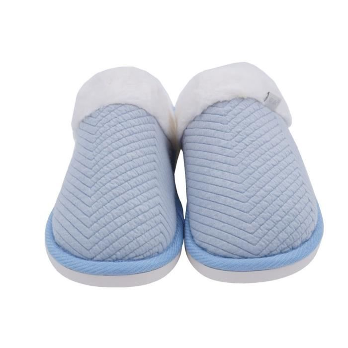 House 44 Cozy Embossed Winter H49AI Warm Taille Cotton 1 Slippers 2 Fur Lining Slippers TP5anPqAw