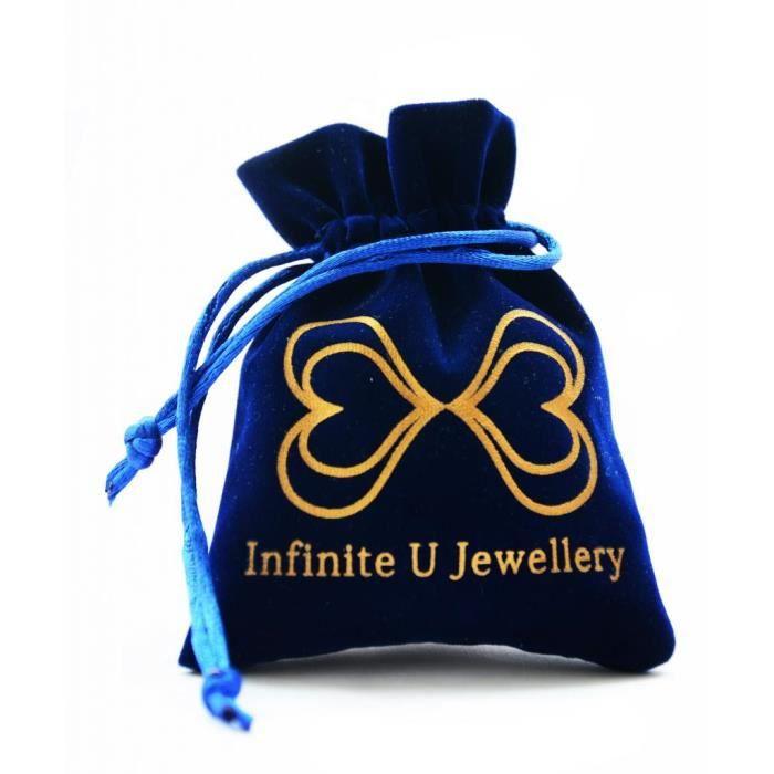 Infinite U Collier pendentif femme en argent 925 Le flacon de neige orné zircon cadeau fille