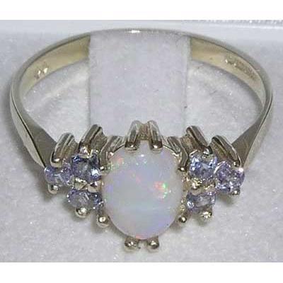 Bague pour Femme en Argent fin 925-1000 sertie d Opale Tanzanite- Tailles 50 à 64