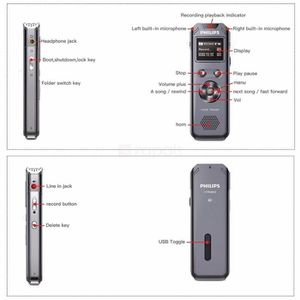 MAGNETOSCOPE NUMERIQUE Philips VTR5800 Enregistreur numérique Voice Trace