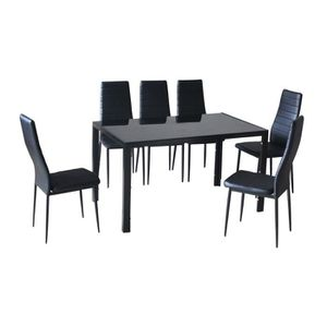table chaises achat vente table chaises pas cher cdiscount. Black Bedroom Furniture Sets. Home Design Ideas