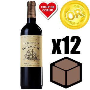 VIN ROUGE X12 La Réserve de Malartic 2015 75 cl AOC Pessac-L