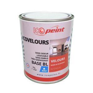 Peinture Acrylique Velours Murale Icovelours Gris Kaki Ral 7008 1l 2 Masquage 18mm Offert