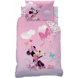 HOUSSE DE COUETTE ET TAIES Minnie Mouse Papillon Ensemble de Literie Junior 4