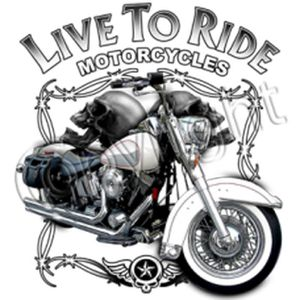 T-shirt FEMME manches courtes - Moto biker LIVE TO RIDE MOTORCYCLE 10526 fd859eb1a9c