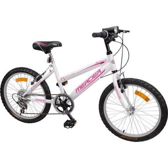 MERCIER Vélo VTT Rigide 20'' - 6 vitesses- Enfant fille 7/9 ans