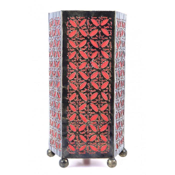 lampe de chevet originale h30cm fer forg et tissu - Lampe De Chevet Originale Pas Cher