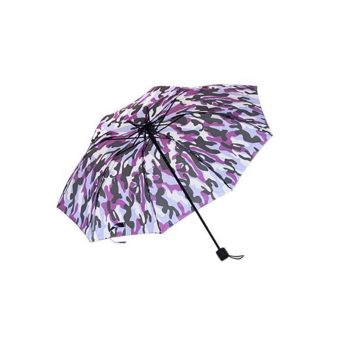 Purple Camouflage pliable unique à la mode rétro à la mode parapluie