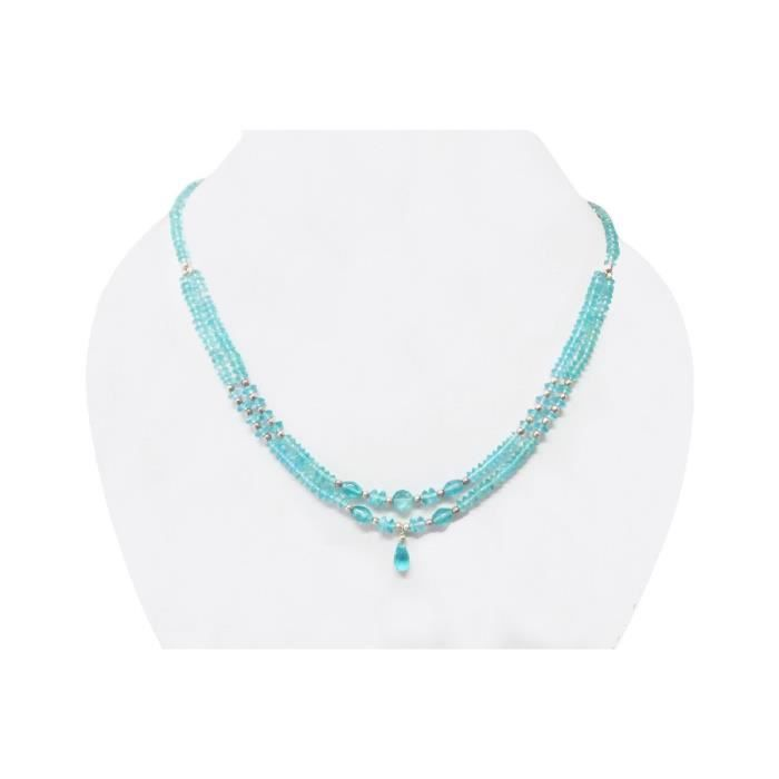 Craze Perle apatite Collier JewelryGemstone-Argent Collier apatite Collier Bijoux