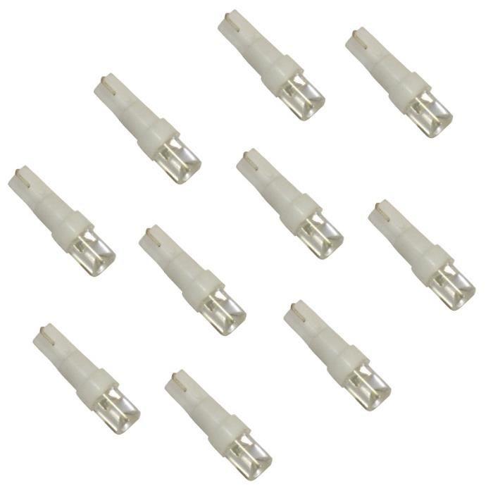 10 ampoules t5 12v led blanc pour tableau achat vente ampoule tableau bord 10 ampoules t5. Black Bedroom Furniture Sets. Home Design Ideas