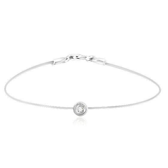 Bracelet homme or blanc et diamant