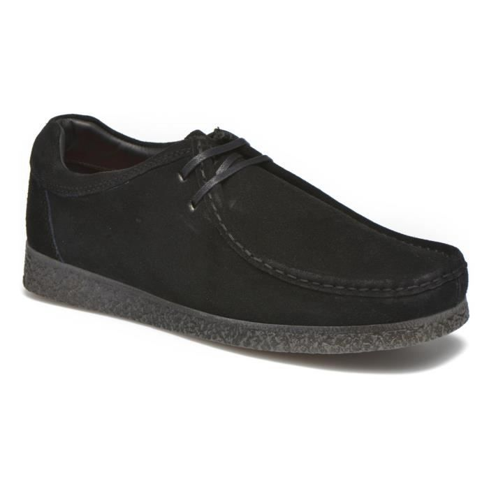Base London Genesis Wallabee Boots Noir chaussures homme