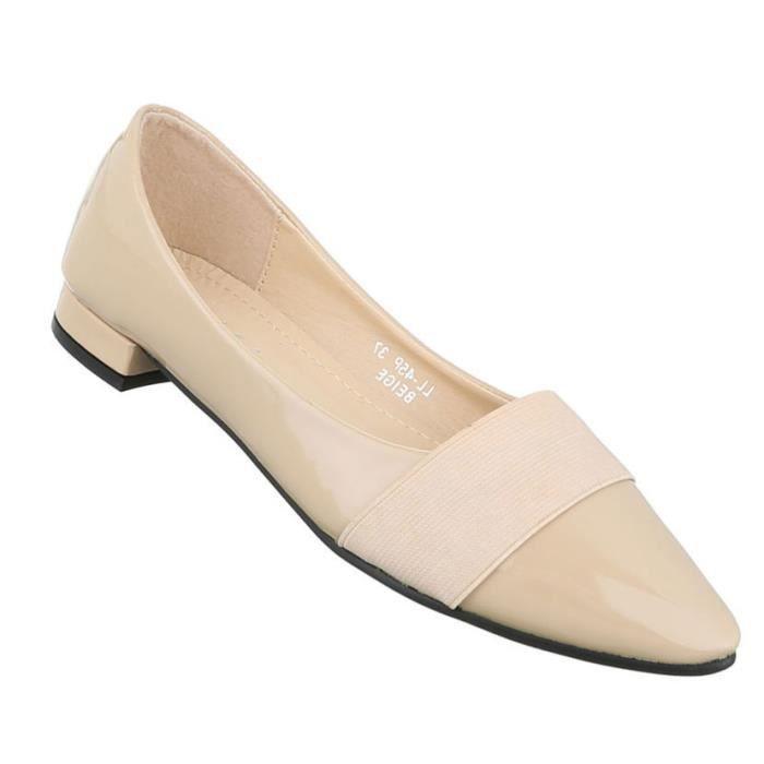 Femme escarpin chaussures Élégant High Heels avec des lacets beige 41 RD3uRE