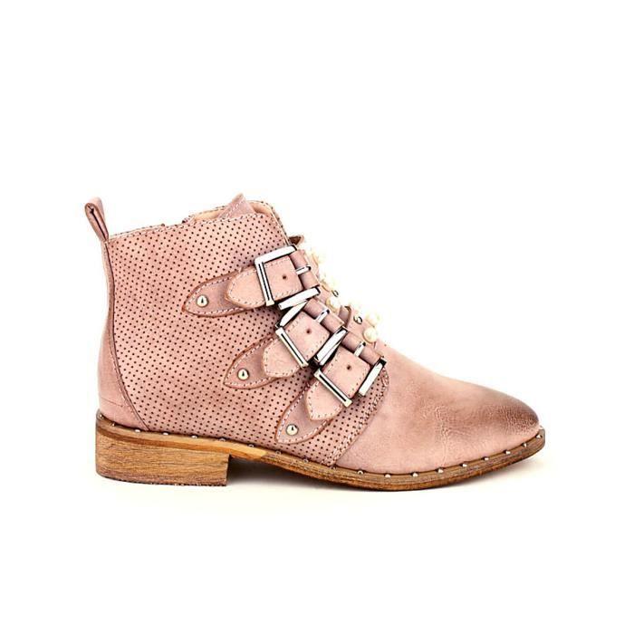 bottine - boots, Bottines Rose Chaussures Femme, Cendriyon